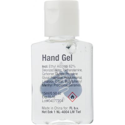 Image of 15ml Hand sanitizer gel.